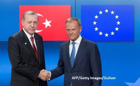 Recep Tayyip Erdogan si Donald Tusk - AFP/Getty