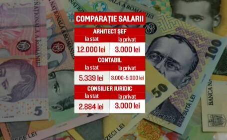 salarii stat versus privat