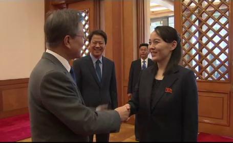 Kim Yo Jong și Moon