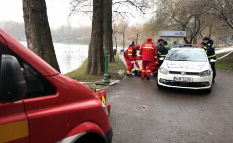 Femeie de 60-70 de ani găsită moartă în lacul din parcul IOR