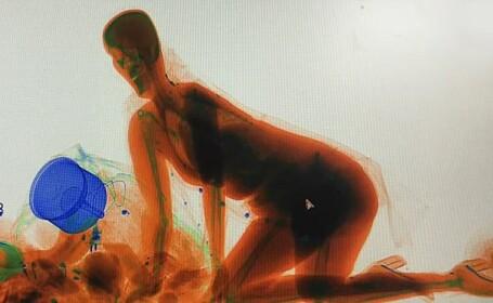 Motivul uimitor pentru care o femeie a intrat în aparatul de raze X de la bagaje