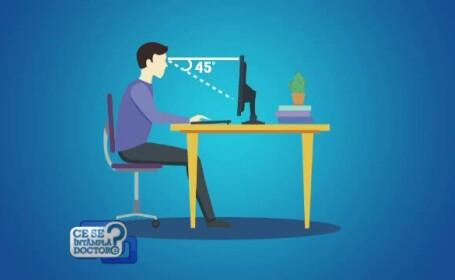 Poziţia greşită pe scaun poate produce ameţeli extrem de grave şi dificultăţi la mers