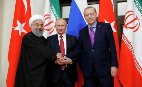 Întâlnire Putin - Erdogan - Rouhani, în Turcia. Ce vor discuta