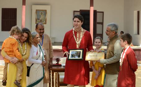 Apariție neașteptată a lui Justin Trudeau în timpul vizitei sale oficiale din India