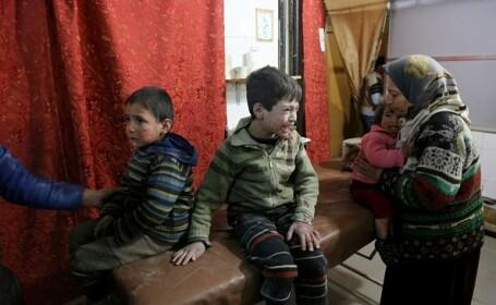 """A cincea zi de bombardamente în Siria. 296 de civili au murit. Merkel: """"E un masacru"""""""