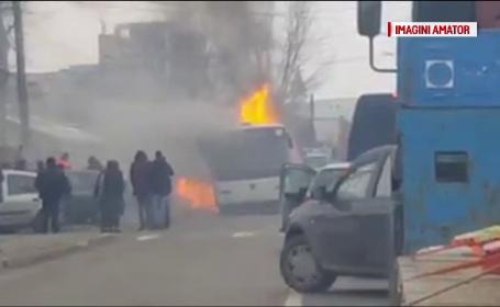 autobuz incendiu Bacău