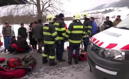accident, copii, slovacia,