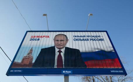 afis electoral pentru alegerile prezidentiale din Rusia