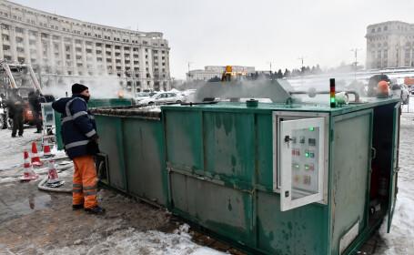 Capitala, curățată cu 12 de maşini de topit zăpada. Utilajele, prezentate de primarul Firea