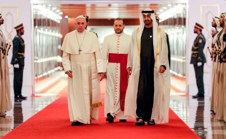 Papa Francisc, într-o vizită istorică în Emiratele Arabe Unite
