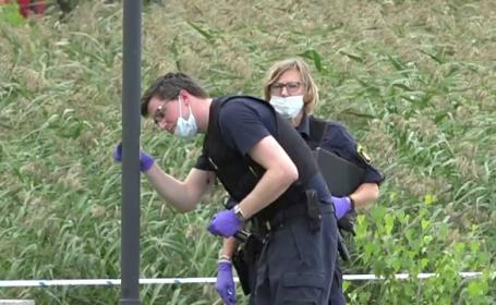 """Descoperirea poliției într-un coș de gunoi pe care scria """"bombă"""""""