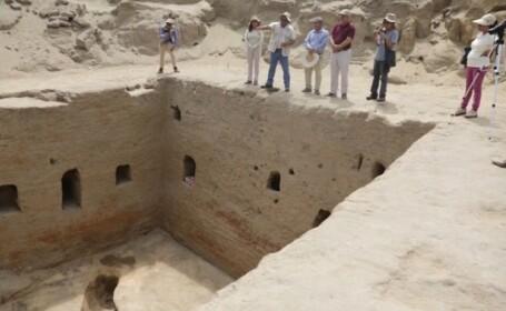 """Cameră funerară cu o """"arhitectură unică"""", descoperită în Peru. Cui aparține"""