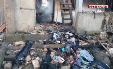 O casă a ars din temelii în Olt. Cauza incendiului devastator