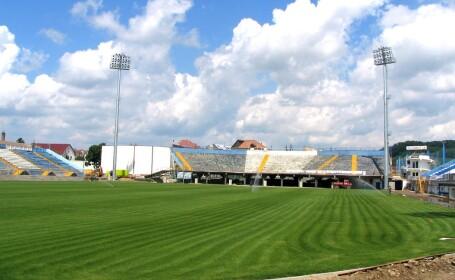 Stadionul echipei Gloria Bistrita aflat in proces de modernizare