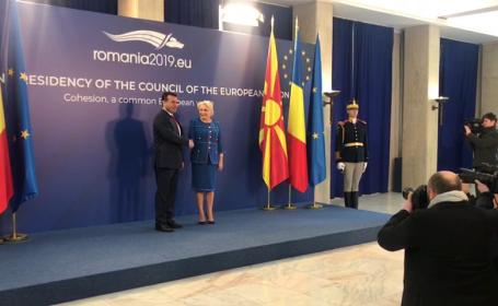 Viorica Dancila si Zoran Zaev