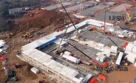 VIDEO. Cum arată spitalul construit în 10 zile la Wuhan