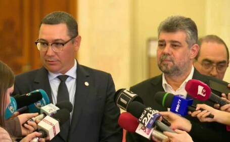 Marcel Ciolacu si Victor Ponta