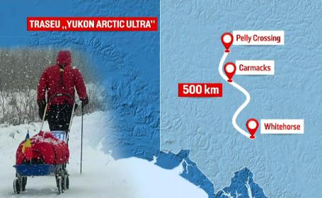 Aventura lui Tibi Ușeriu la Yukon Arctic Ultra. Cum a fost atacat de un ren