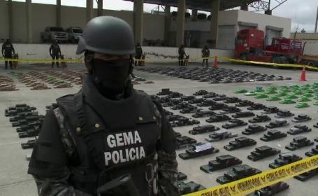 Trei tone de cocaină, descoperite în Ecuador, pe un vas care transporta produse spre Belgia