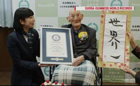 Ce vârstă are cel mai bătrân bărbat din lume. A primit un certificat din partea Cărţii Recordurilor