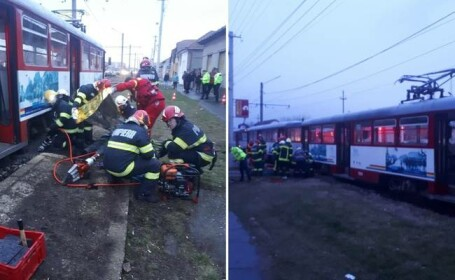 Femeie ucisa de tramvai la Arad