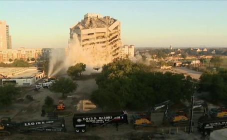 Ce s-a întâmplat cu o clădire, după ce muncitorii au încercat să o demoleze cu explozibil
