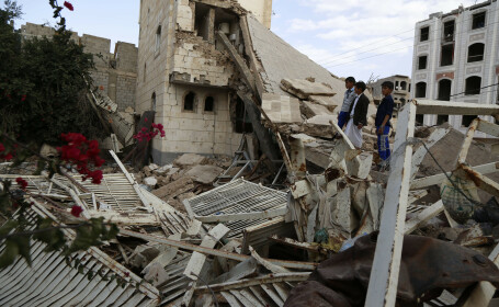 distrugeri in Yemen, dupa un raid aerian