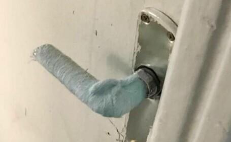 Angajații Primăriei Balș au pus tifon cu spirt pe clanțe, împotriva gripei