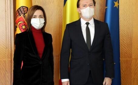 Întâlnire între Florin Cîțu și Maia Sandu la București. Ce au discutat cei doi