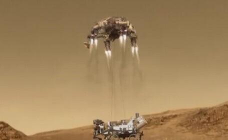 NASA a ajuns din nou pe Marte, mai exact cel mai nou robot al agenției spațiale americane, Perseverance