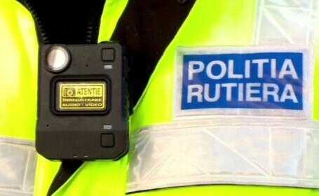 Polițiștii din țară au primit body-cam-uri. Toate discuțiile cu șoferii opriți sunt înregistrate audio-video