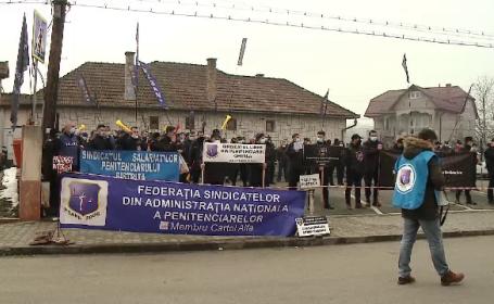 Proteste ale angajaților din penitenciare. Cer personal mai mult și salarii mai mari