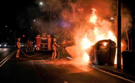 Proteste violente la Barcelona, după arestarea rapperului Pablo Hasel