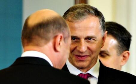 Mircea Geoana si Traian Basescu
