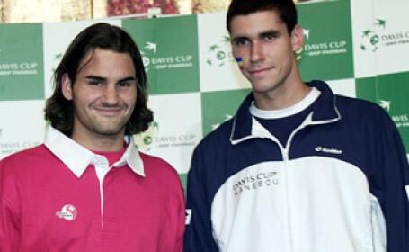 Victor Hanescu si Roger Federer