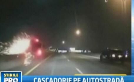 VIDEO! S-a dat cu masina peste cap de doua ori si a scapat doar cu vanatai