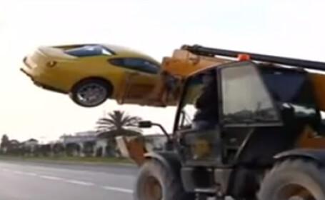 Ferrari furat cu macaraua