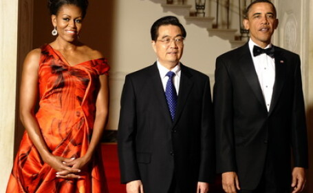 Michelle Obama, Hu Jintao si Barack Obama