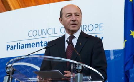 Traian Basescu la Strasbourg