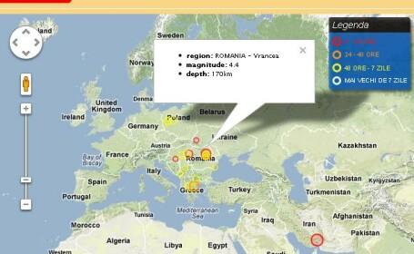 Cutremur de 4,4 pe scara Richter in Vrancea