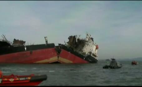 Un petrolier coreean, distrus de o explozie, s-a scufundat in Marea Galbena