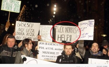 Mesajul de la proteste care a dus Romania pe cel mai popular site de umor din lume. FOTO