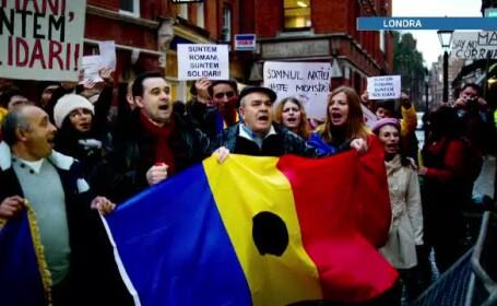 romani, proteste Londra