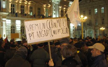 O noua seara de proteste in Arad.