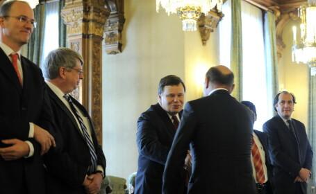 Traian Basescu si Jeffrey Franks