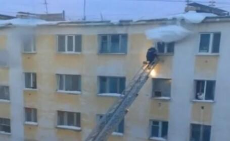 Pompier lovit de zapada