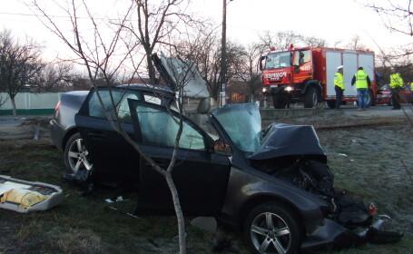 masina accident grav