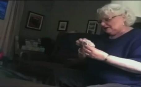 Imaginile care fac senzatie pe internet. Cum reactioneaza o femeie cand afla ca va fi bunica. VIDEO