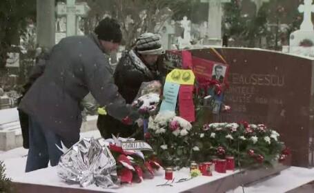 De ziua lui Nicolae Ceausescu, ultimii fani ai PCR au infruntat vremea pentru a depana amintiri
