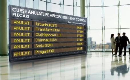 Ceata a izolat Romania de restul Europei. Chinul pasagerilor pusi sa astepte cu orele in aeroporturi